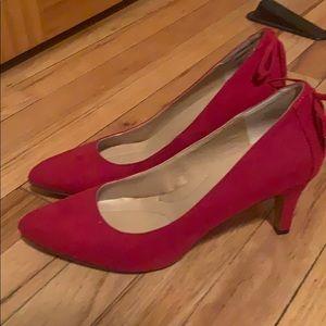 Red Criss Cross Back Heels